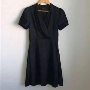 BCBGMAXAZRIA Black Cap Sleeve Dress